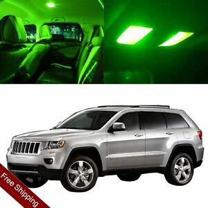 10x Green Car Interior Led Package Light Bulbs For Jeep Grand Cherokee 1998 2004