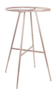 Round Clothing Rack Clothes Garment Retail Store Rose Gold 48 72 Adjustable