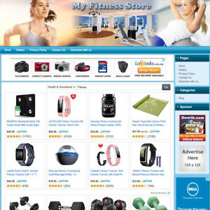 Fitness Store Professionally Designed Affiliate Business Website For Sale