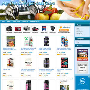 Diet Weight Loss Store Turnkey Affiliate Online Website Business For Sale