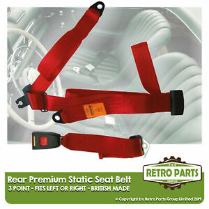 Rear Static Seat Belt For Fiat 500 Bianchina Saloon 1958 1960 Red