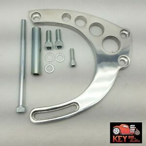 Big Block Chevy Mid Mount Polished Aluminum Alternator Bracket Long Pump Bbc 454