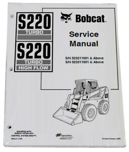 Bobcat S220 Skid Steer Loader Service Manual Shop Repair Book 1 Part 6902447