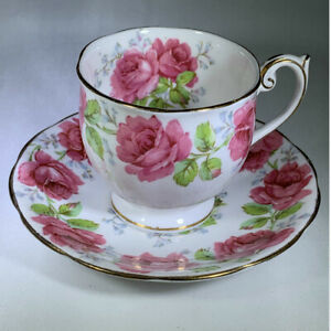 Bell China England Bone China Cup With Saucer Lady Alexander Rose Pink