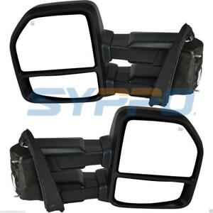 For 2018 Ford F150 Tow Mirrors Power Heated W Turnsignal Park Spot Puddle Lamp