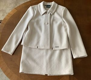 Geiger Collections Of Austria Pure Wool Ivory beige Suit Euro Size 36 38 Mint