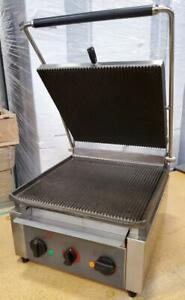 Equipex Sodir Panini Grill Press Xl 220v Commercial Cast Iron Grooved Plates