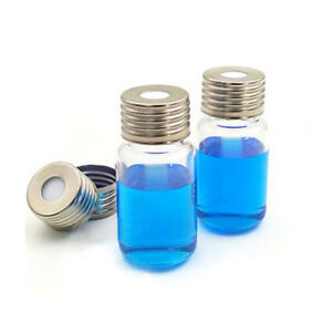 10ml Glass Vials With Aluminum Caps 100pcs pack 18mm Round Bottom Headspace Top