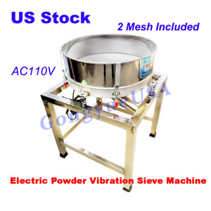110v Electric Powder Vibrating Sieve Machine Dry Liquid Screener Deck Stainless