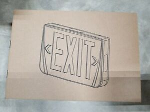 Led Emergi lite Exit Sign Thomas Betts Thermoplastic Ac Red