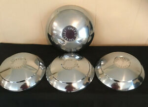 Vintage Hubcaps Chevrolet Chevy Corvair Dog Dish Wheel Covers 4 Center Caps