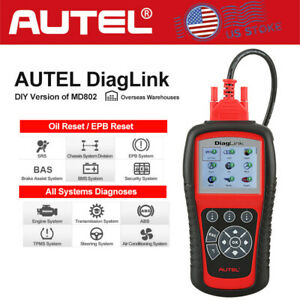 Autel Diaglink All System Abs Srs Obd2 Scanner Oil Epb Reset Car Diagnostic Tool