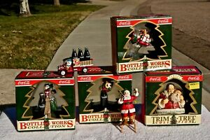Coca Cola Trim A Tree/Bottling Works Collection, 1993, Lot of 6