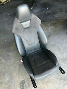 2010 2011 2012 2013 Audi S4 Driver Left Leather Suede Bucket Seat Oem