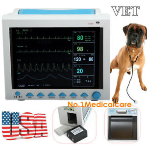 Veterinary Patient Monitor Animal Icu Vital Signs 7 parameter With Recorder