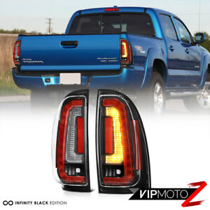 For 05 15 Toyota Tacoma Led Strip Brake Signal Lamp Black Housing Tail Light