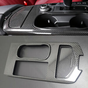 For Maserati Ghibli 2015 Carbon Fiber Cup Holder Key Area Console Panel Cover