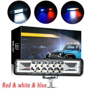 48w Strobe Flash Led Work Light Lamp Bar For Jeep Off Road Atv Suv Motor G3l2