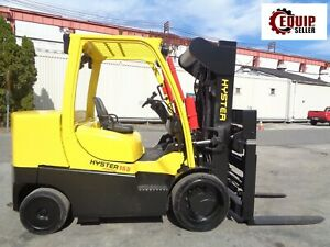 2013 Hyster S155ft 15500lb Riggers Boom Truck Forklift Diesel Solid Tire