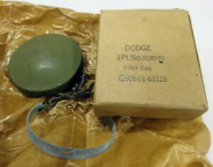 Wwii Dodge Military Truck 1 2 Ton 4x4 G505 Fuel Cap Nos