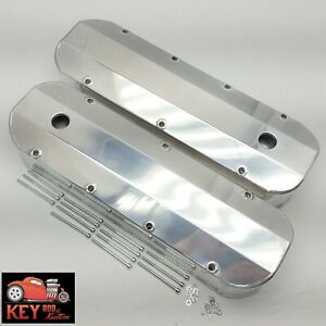 Big Block Chevy Polished Aluminum Fabricated Valve Covers Welded Bbc 396 427 454