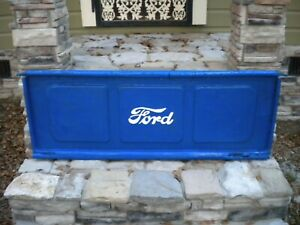 Vintage 30 s 40 s Ford Stepside Truck Script Tailgate Bench Original Part