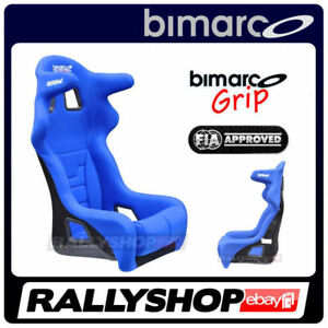 Bimarco Seat Fia Approved Grip Racing Head Restraint Blue Race Rally Cheap