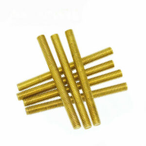 Solid Brass All Thread Threaded Rod Bar Studs Screw M2 m20 250mm 500mm