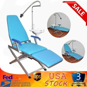 Dental Portable Folding Chair Delivery Unit led Surgical Light Lamp waste Basin