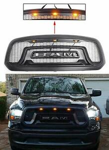 Brand New Front Bumper Hood Grille For 2013 2018 Dodge Ram 1500 2014 15 16 17