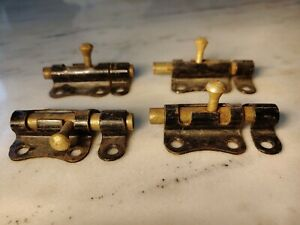 Vintage Slide Bolt Set Of 4 Antique Cabinet Door Lock Hardware Kitchen