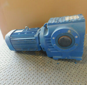 New Sew Eurodrive Helical Worm Gearmotor 10 Hp 14 06 1 Ratio 230 460 Volts New