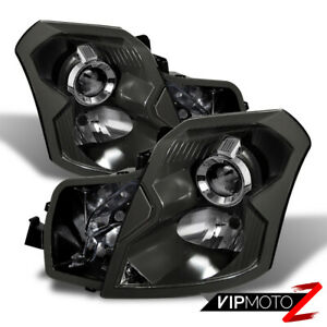 03 07 Cadillac Cts Black Factory Style Replacement Projector Headlight Assembly