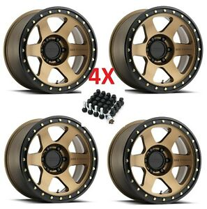 20 Bronze Method Wheels Rims 20x9 5x150 Fuel Xd Moto Rhino Con 6