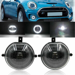 2xled Fog Light Assy For Mini Cooper F54 F55 F56 F57 Halo Ring Drl Parking Lamp