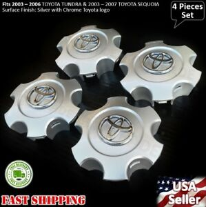 New 4pcs Toyota Tundra 2003 2004 2005 2006 Wheel Center Hub Cap Silver 560 69440