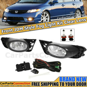 Fog Light Pair For Honda Civic 2009 2011 Sedan Clear Lens Foglamps Left Right