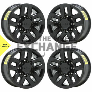 18 Chevrolet Silverado 2500 3500 Black Wheels Rims Factory Oem New Set 4 5709