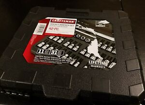 Craftsman 34845 42 Pc 1 4 And 3 8 inch Drive Bit And Torx Bit Socket Wrench Set