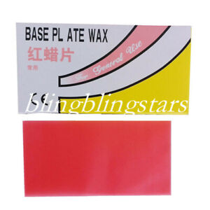 20 Pcs Dental Plate Red Wax Lab Base Utility Pieces Supply Instruments Equipment