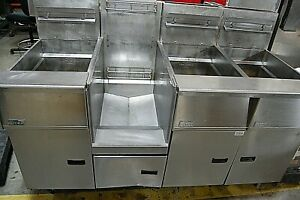 Pitco Sgh50 Natural Gas 3 Bay Fryer W Filtration System Free Shipping