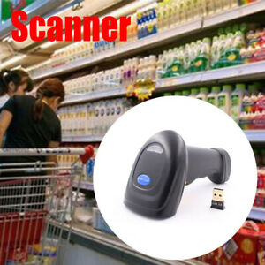 2019 2 4g Wireless Bluetooth Laser Usb Barcode Scanner Reader For Pos Inventory
