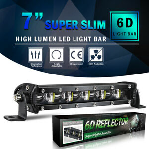 8inch 480w Led Work Light Bar Flood Spot Beam Offroad 4wd Suv Driving Fog Lamp