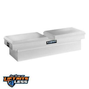 Lund 86450 70 Cross Bed Truck Tool Box Full Size Gull Wing Steel White