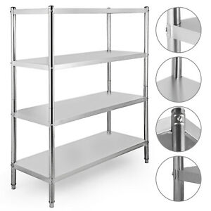 Stainless Steel Kitchen Shelf Shelving Rack Shelves Rack Restaurant 4 tier