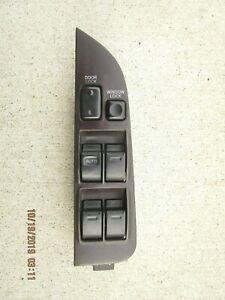 92 96 Toyota Corolla Front Driver Left Master Power Window Switch Burgundy