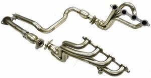Mhp S S Long Tube Header For 2000 05 Chevy Gmc Hummer H 2 Silverado Ss 2500 6 0l