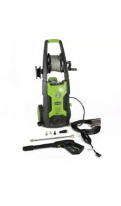 Greenworks 5100302 Electric High Pressure Washer With 25 Foot Hose Reel Green