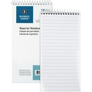 Business Source Coat Pocket size Reporters Notebook 70 Sheets Spiral 4 X
