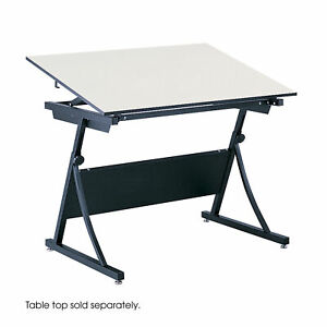 Safco Planmaster Adjustable Drafting Table Base 37 50 Height X 43 Width X